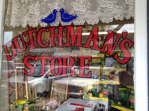 Sign reading Dutchman's Store